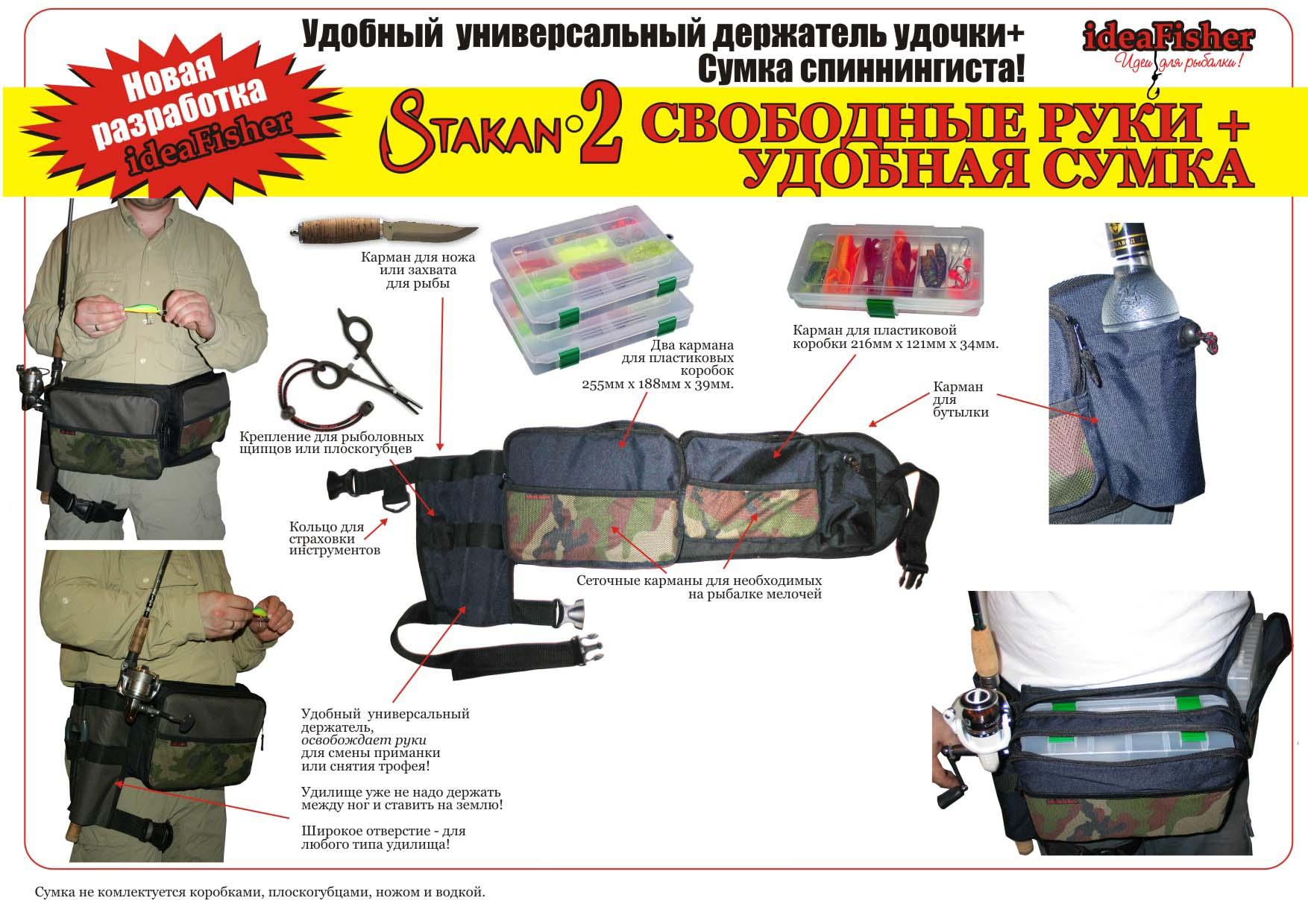 сумка для рыбалки и удочек
