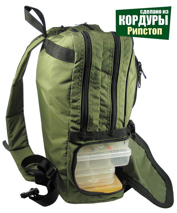 РыбZak 20 Рюкзак - слинг для ходовой рыбалки из кордуры с рипстоп! СЛИНГ!